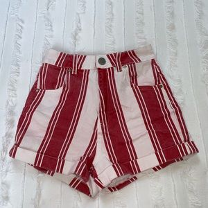 Red and White Cotton On shorts